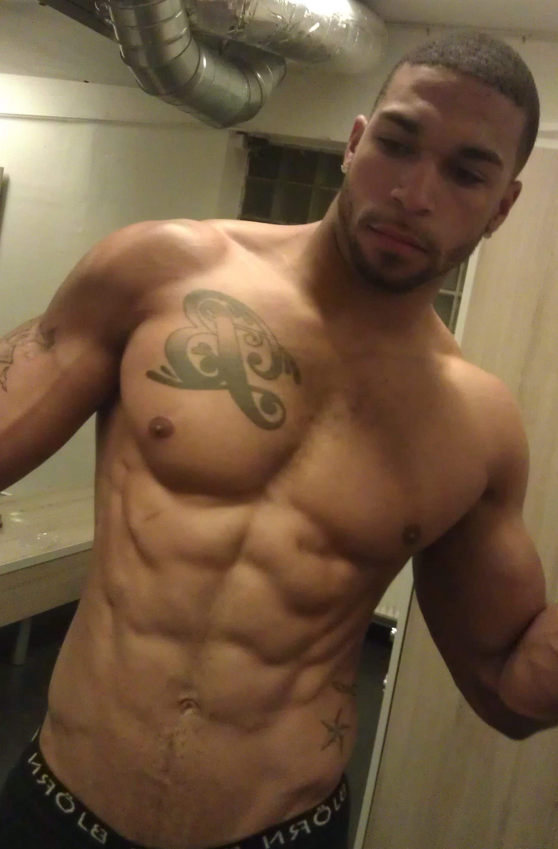 from Justus black men naked self shots